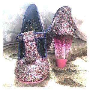 ModCloth Glitter Mary Janes